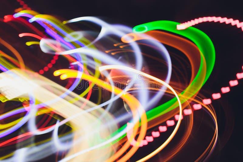 Stång för klubba för discjockey för frysningljusoändlighet avlägsen royaltyfri bild