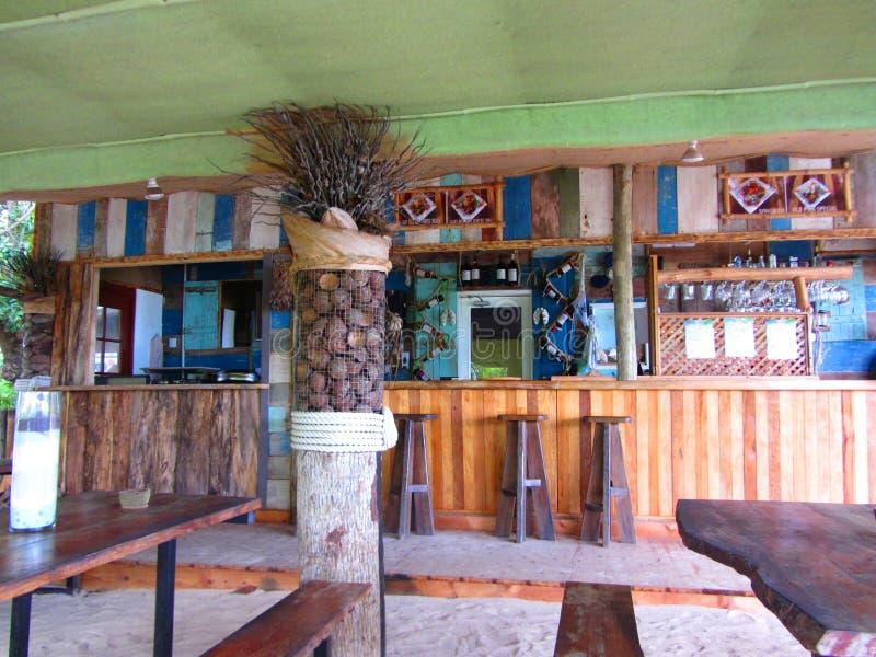 Stång på La Digue, Seychellerna royaltyfri foto