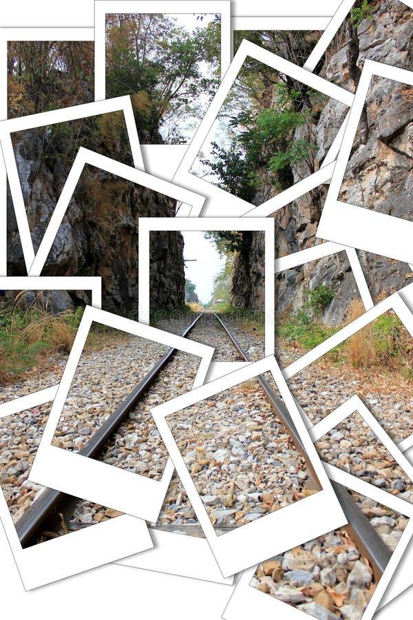 Stång till och med klyftaögonblickfotoet arkivbilder