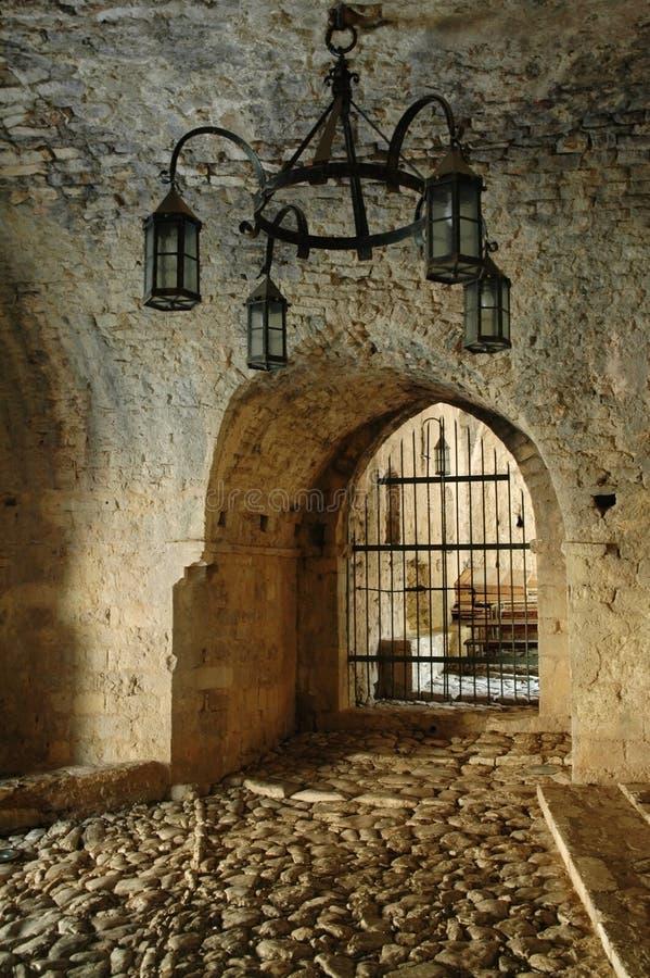 stångbefästningmontenegro gammal town royaltyfri bild