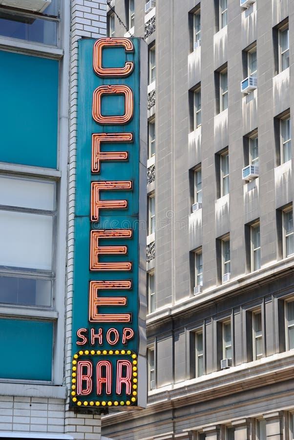 stångcoffee shop arkivfoton