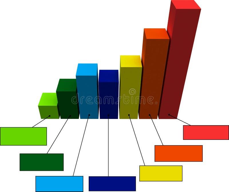 stångdiagram stock illustrationer