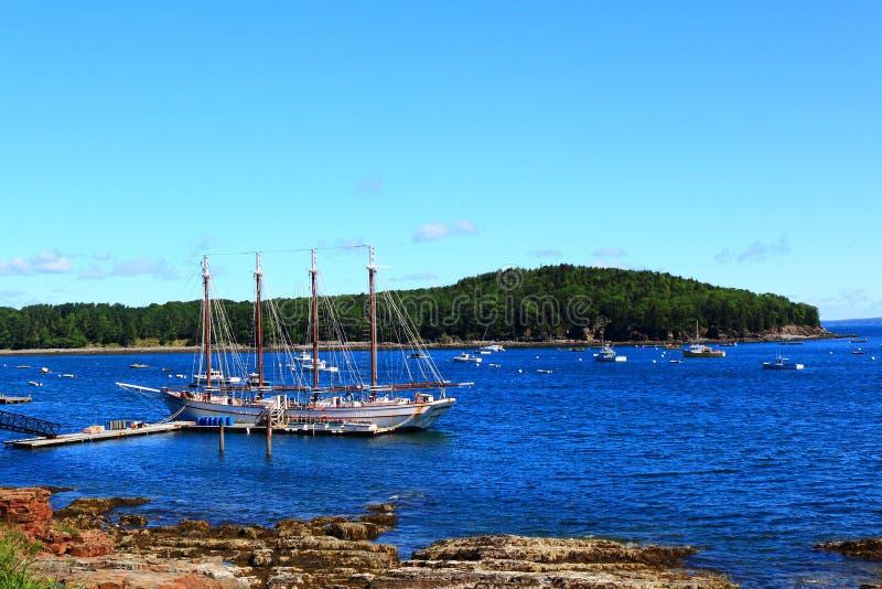 Stånghamn kust- Maine royaltyfri fotografi