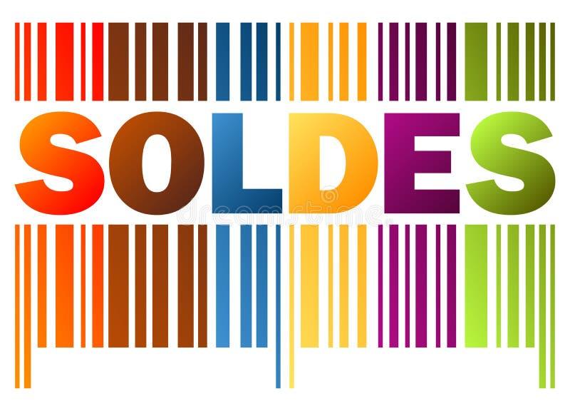 stångkod SOLDES stock illustrationer