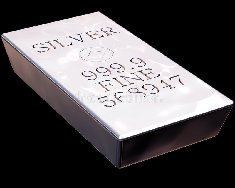 stångsilver royaltyfri illustrationer
