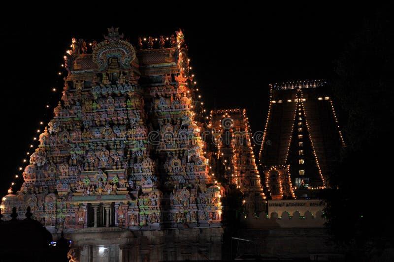 Står högt den srirangamtamilnaduIndien templet royaltyfria bilder