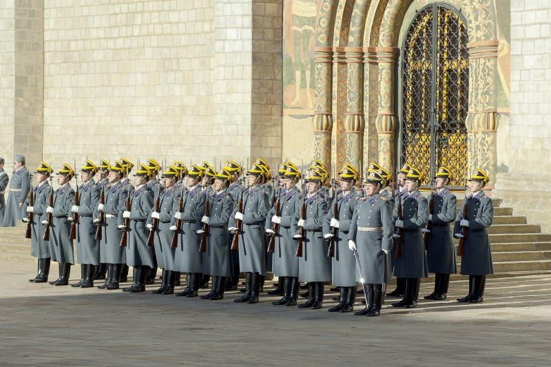 Ståta av presidents- guards royaltyfria foton