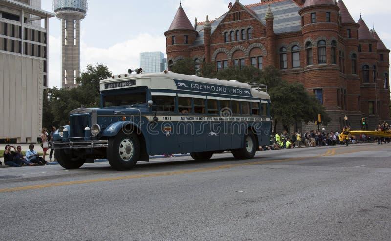 Ståta den statliga mässan av den Texas tappningbussen royaltyfri fotografi