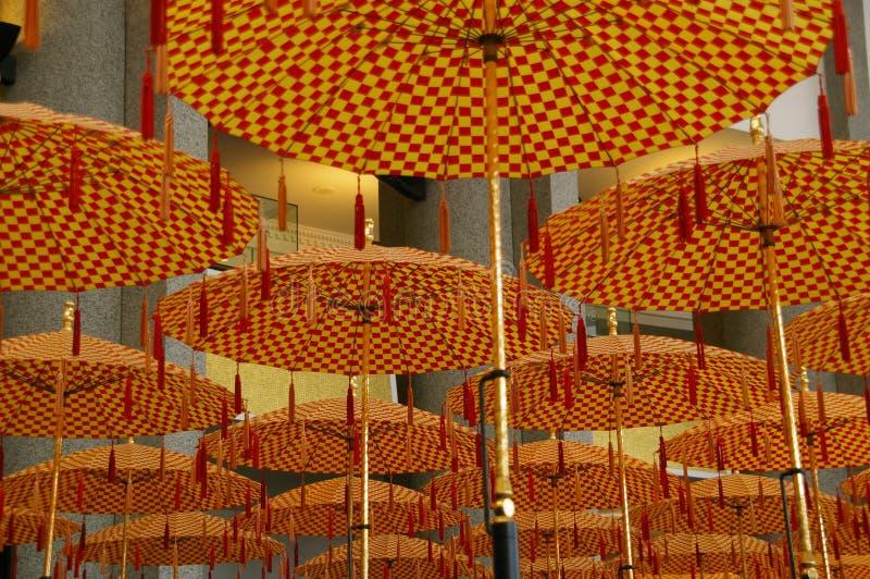 Ståta paraplyer Brunei arkivfoton