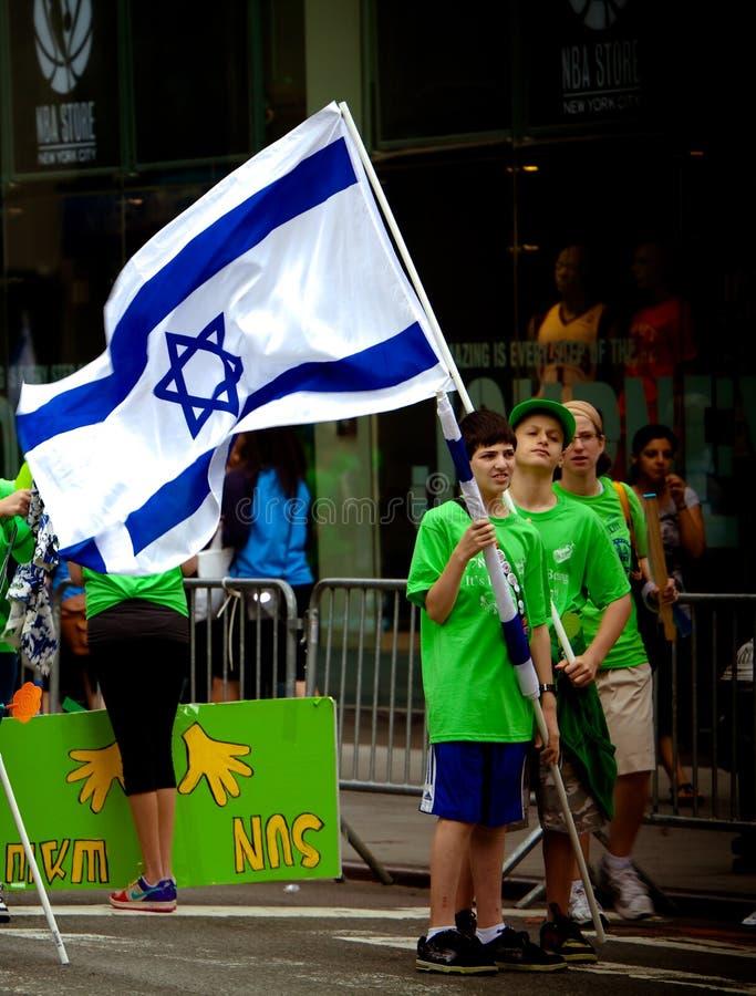 ståtar israeliska nya för stadsdag york fotografering för bildbyråer