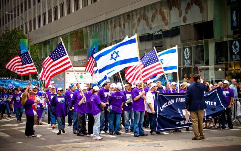ståtar israeliska nya för stadsdag york arkivfoton