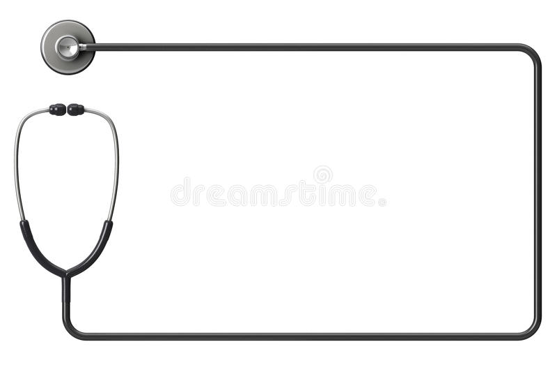 Stéthoscope comme cadre illustration stock
