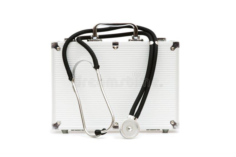 stéthoscope de cas photo libre de droits