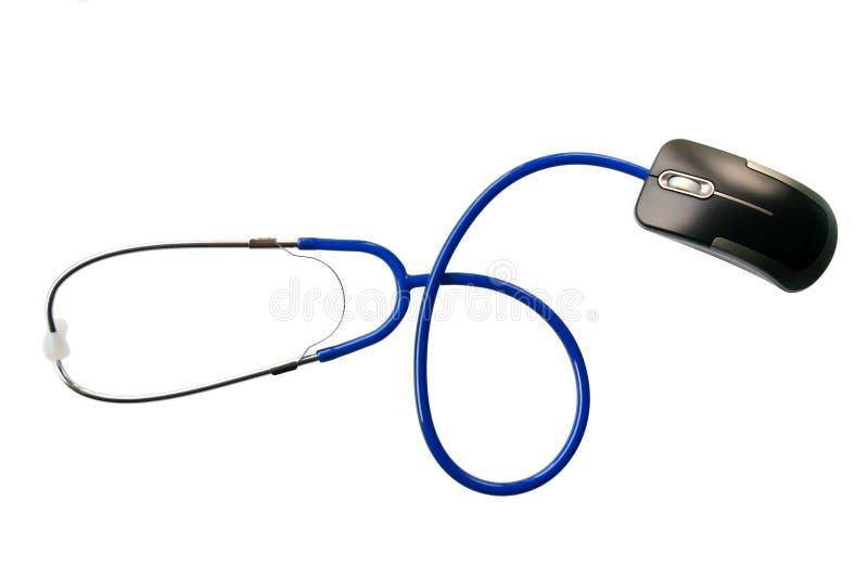 Stéthoscope et de souris photo stock