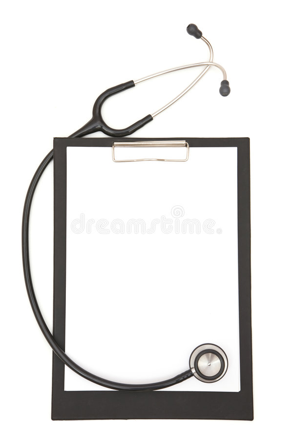 Stéthoscope médical avec la planchette photo libre de droits