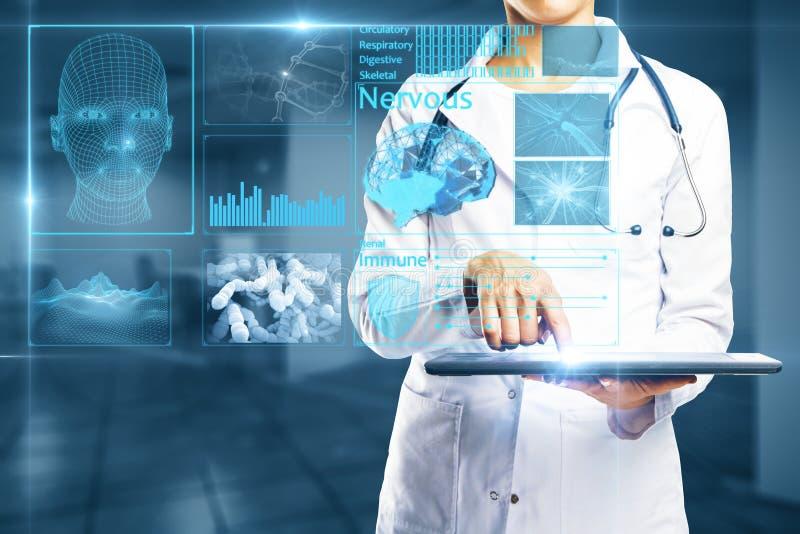 stéthoscope réglé d'argent de médecine de mensonges de concept photos libres de droits