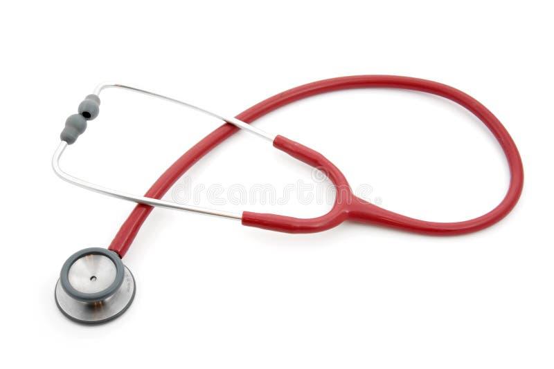 Stéthoscope rouge photographie stock