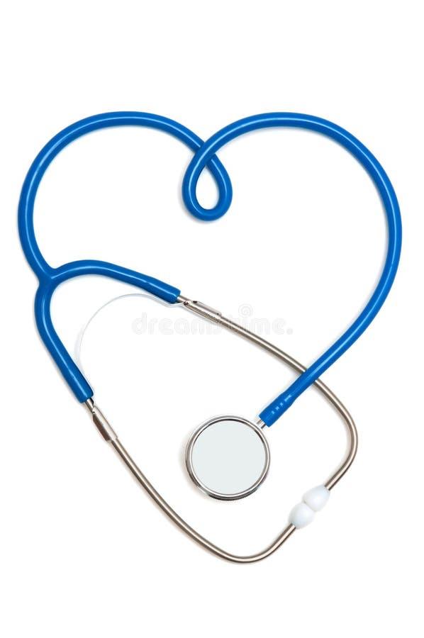 Stéthoscope sous forme de signe de coeur images libres de droits