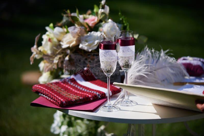 Stół Dla Ślubnej ceremonii zdjęcia stock