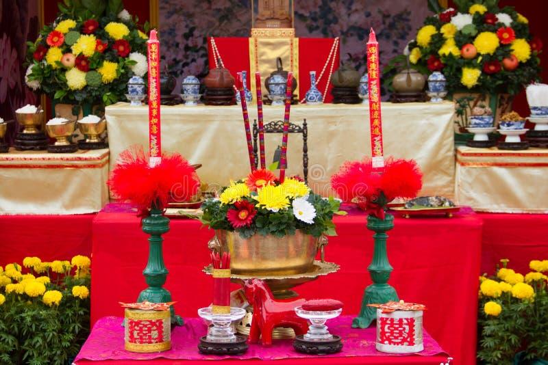 Stół dla szacuneku bóg zdjęcie stock