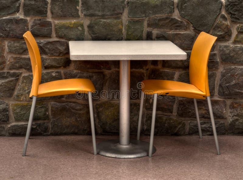 stół dwa zdjęcie stock