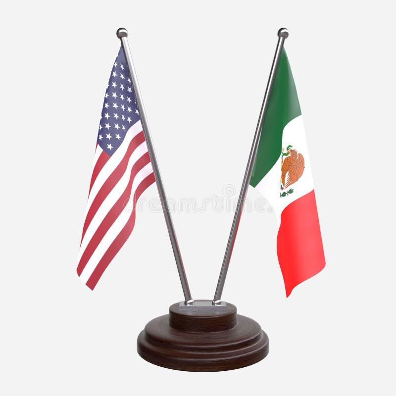 Stół flaga ilustracji