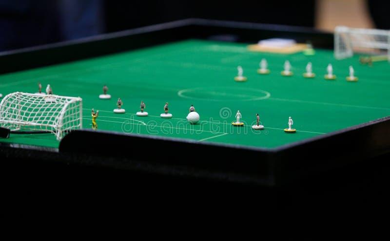 Stół gotowy dla Stołowego occer światu meczu finałowego zdjęcia stock