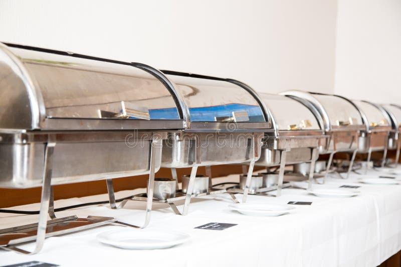Stół przygotowywający catering usługa zdjęcie stock