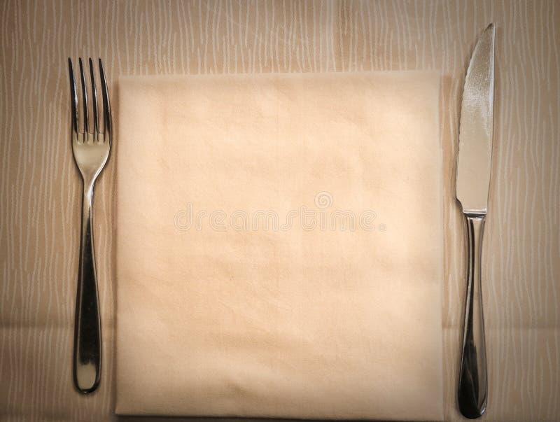 Stół przygotowywający dla gościa restauracji obrazy royalty free