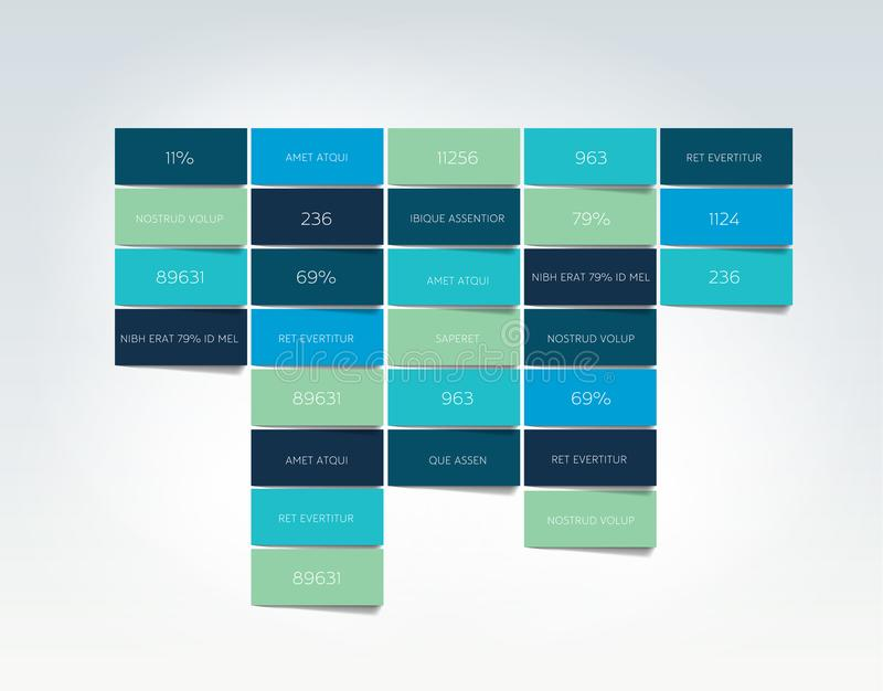 Stół, rozkład, zakładka, planista, infographic projekta szablon ilustracji
