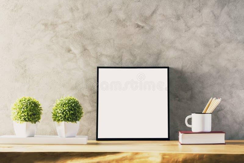 Stół z biel ramą obrazy stock