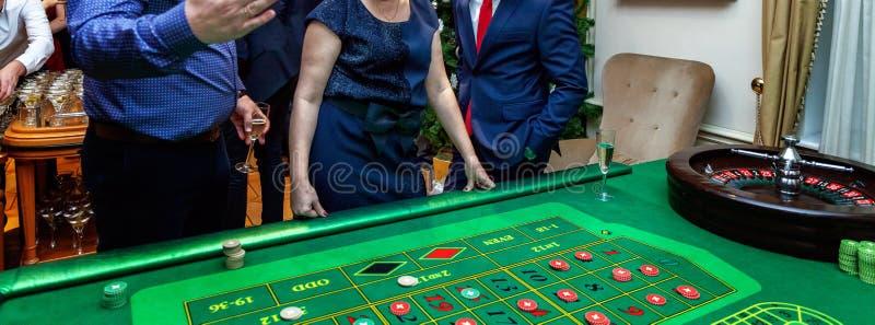 Stół z ruletą zdjęcia royalty free