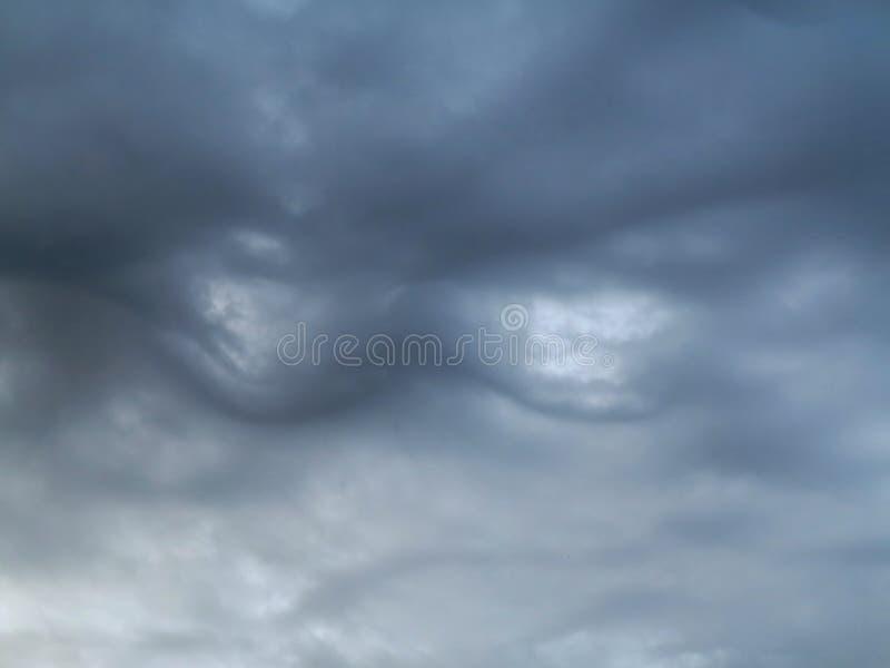 Stöße auf dem Himmel stockbild
