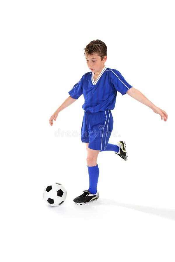 stöd fotboll för boll royaltyfria bilder