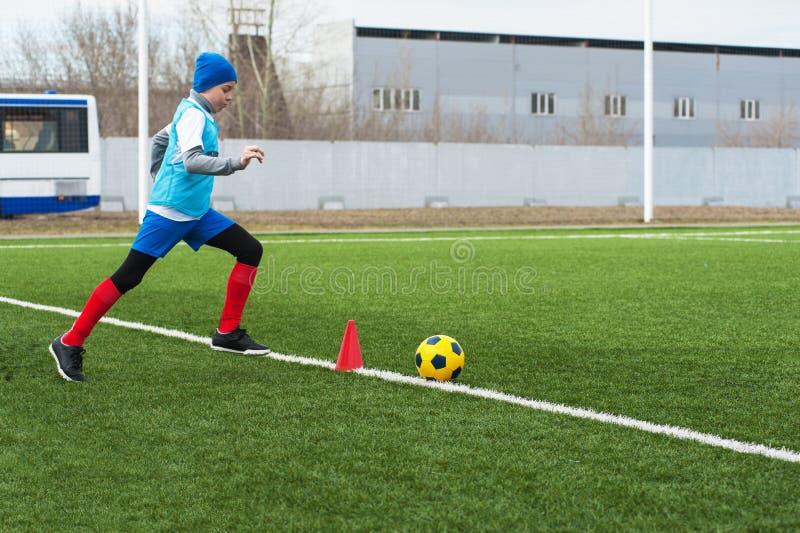 stöd fotboll för bollkalle arkivbild