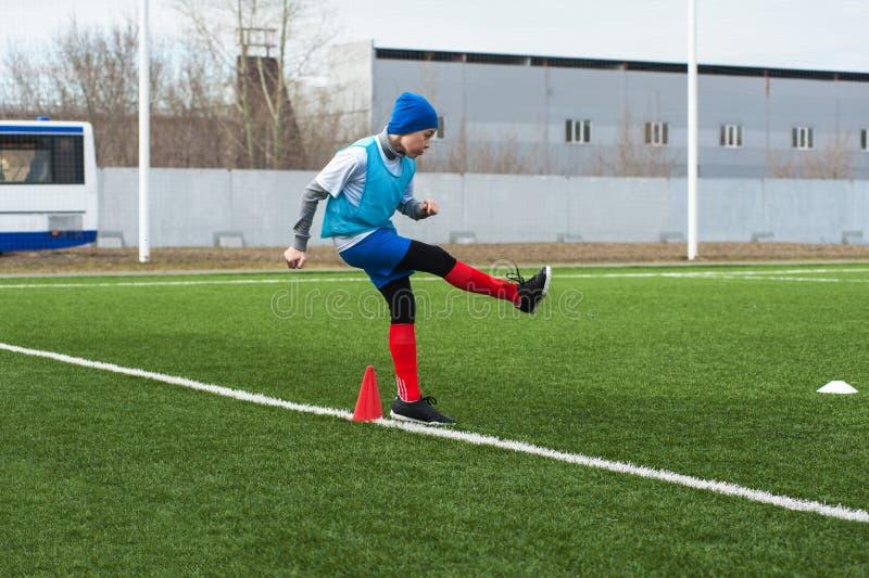 stöd fotboll för bollkalle arkivfoto