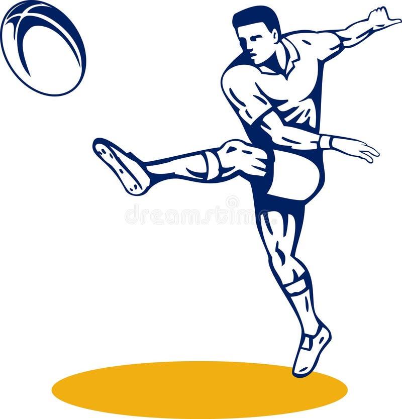 stöd spelarerugby för boll vektor illustrationer