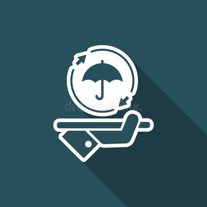 Stödja full skyddsservice - vektorrengöringsduksymbol royaltyfri illustrationer