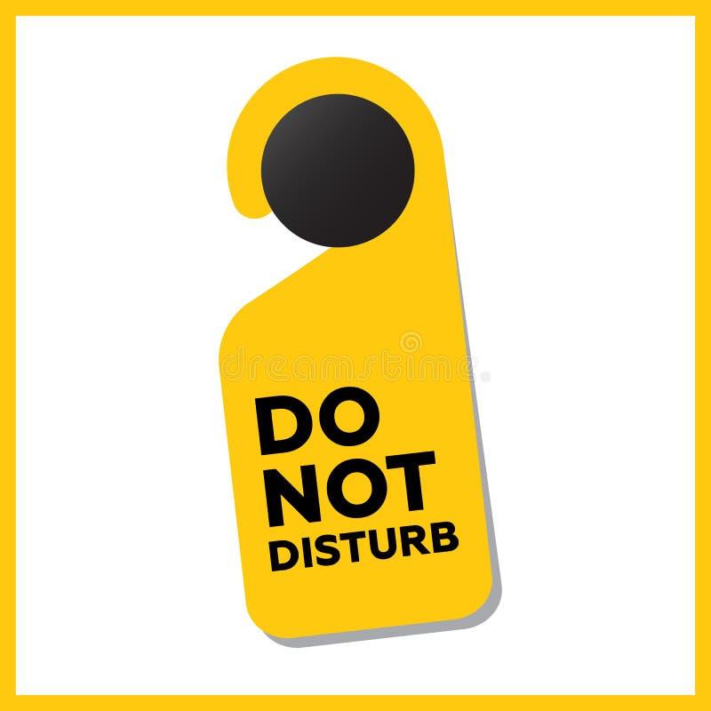 Stören Sie nicht Türzeichen vektor abbildung