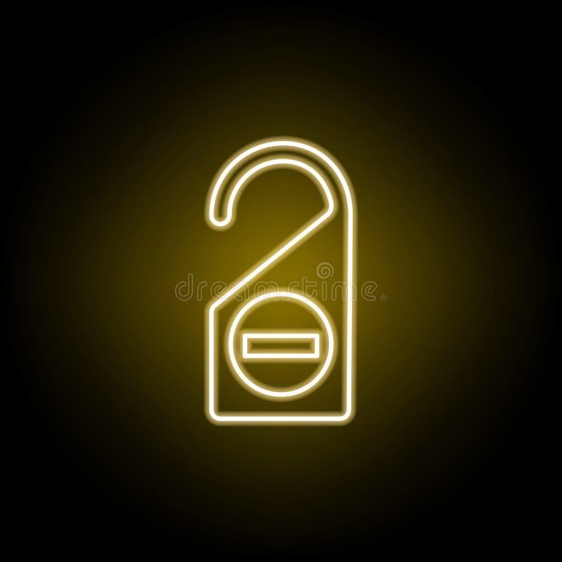 st?ren Sie nicht Zeichenikone in der Neonart Element der Reiseillustration Zeichen und Symbole k?nnen f?r Netz, Logo, mobiler App vektor abbildung