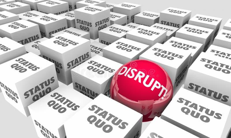 Stören Sie status quo-Bereich-Würfel, die Änderung entwickeln erneuern stock abbildung