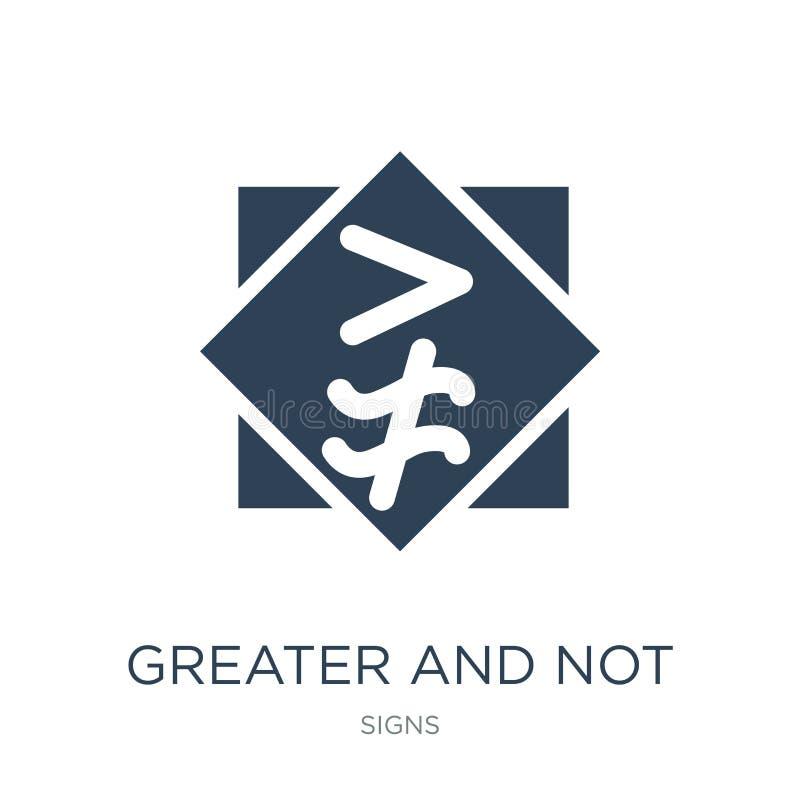 större och inte ungefärligt jämbördigt till symbolen i moderiktig designstil större och inte ungefärligt jämbördigt till symbolen royaltyfri illustrationer