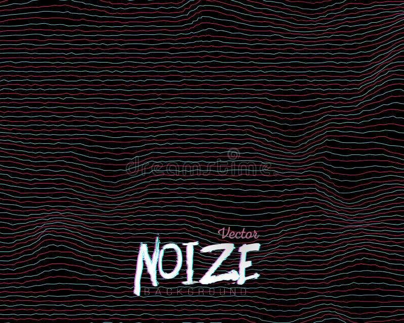Störschub Digital Noize zeichnet Hintergrund lizenzfreie abbildung