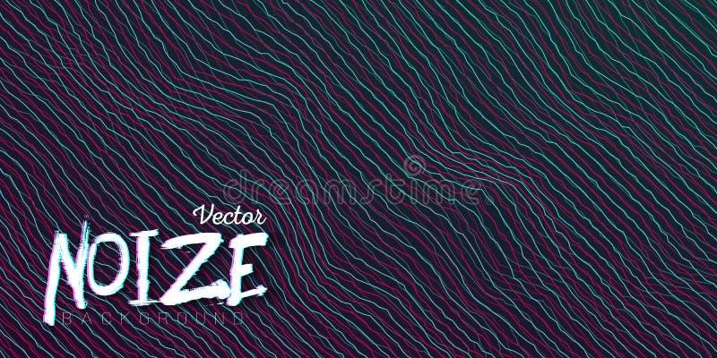 Störschub Digital Noize zeichnet Hintergrund stock abbildung