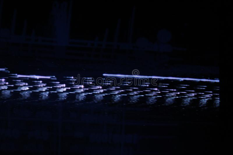 Störschub Fernsehschirm Ursprünglicher analoger Schirm des Fehlers im Fernsehen lizenzfreie stockfotos