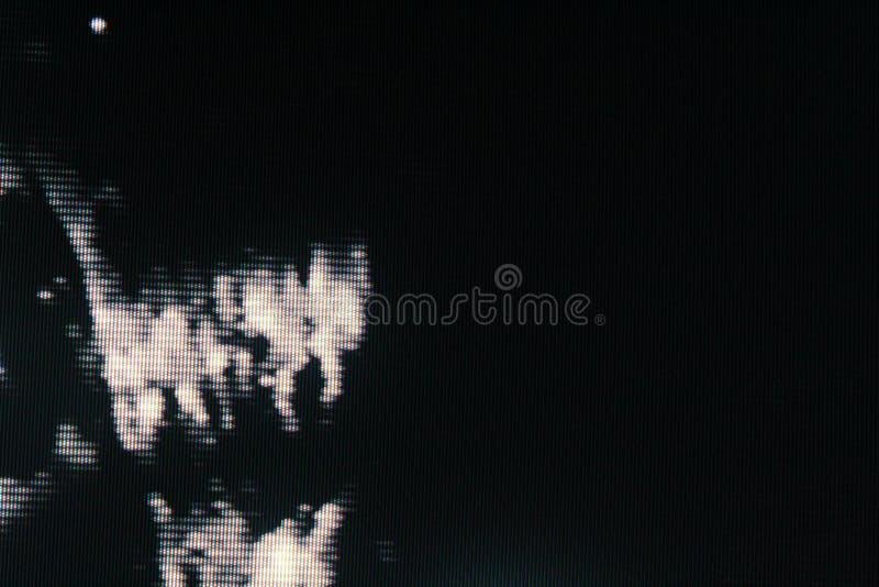 Störschub Fernsehschirm Ursprünglicher analoger Schirm des Fehlers im Fernsehen lizenzfreie abbildung