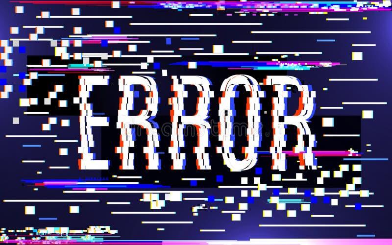 Störschubfehlerkonzept Bunte digitale Pixelgeräusche Fernsehschirmeffekt Verdorbenes Bild auf Farbhintergrund lizenzfreie abbildung