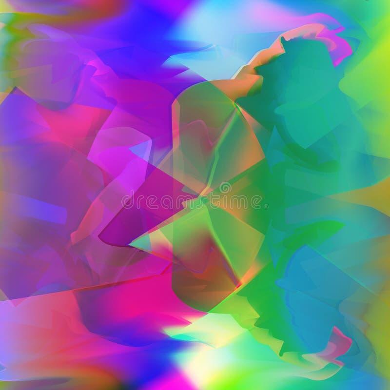 Störschubhintergrund mit glänzenden glühenden unscharfen Farben fließen vektor abbildung