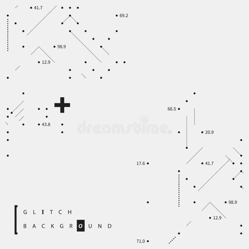 Störschubtexthintergrund mit Elementen des übersichtlichen Designs vektor abbildung