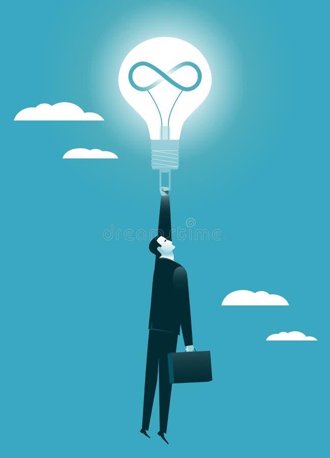 Störst idé lyckad affärsidé stock illustrationer